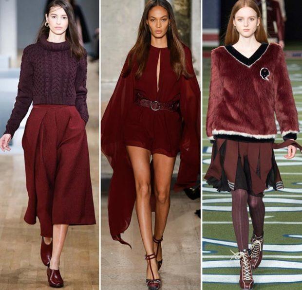 модные цвета весна 2018: бордовые оттенки