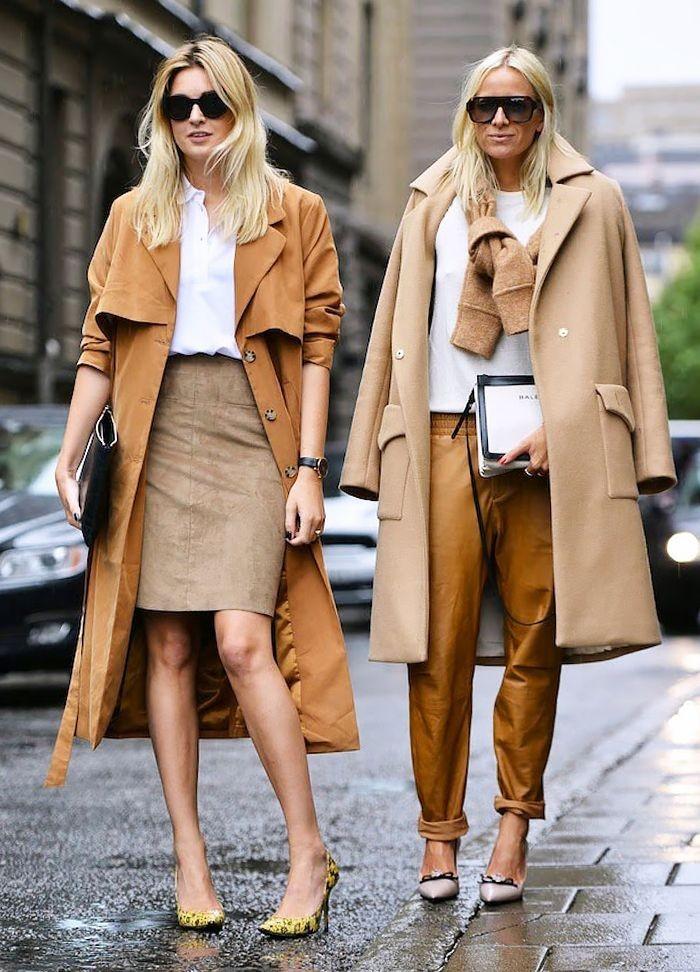 модные цвета весна 2018: бежевые оттенки верхней одежды брюк юбки