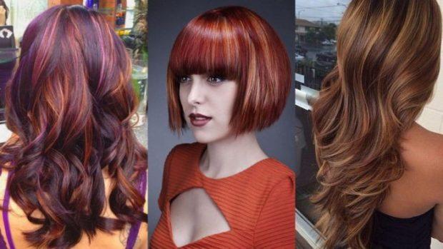 модные цвета волос 2018: коричневый с оранжевым русый