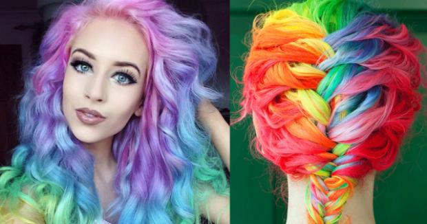 Модные цвета волос в 2018 году: цветные волосы