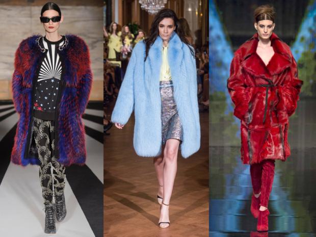 модные женские шубы 2019-2020: шуба синяя с красным голубая красная