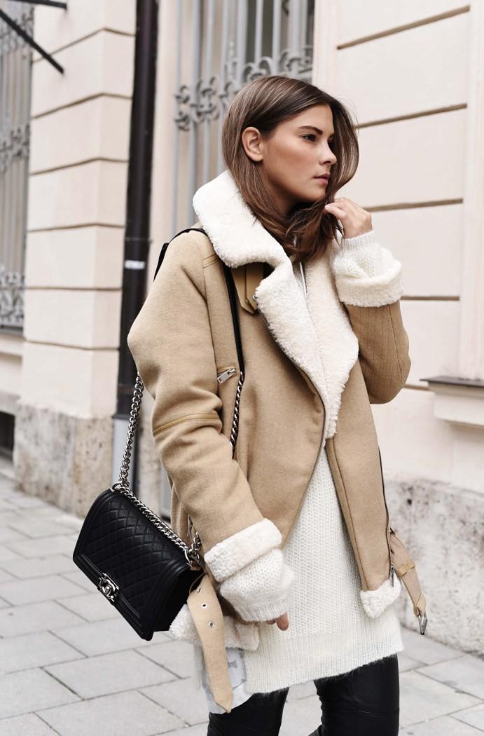 модные женские шубы 2019-2020: дубленка короткая светлая