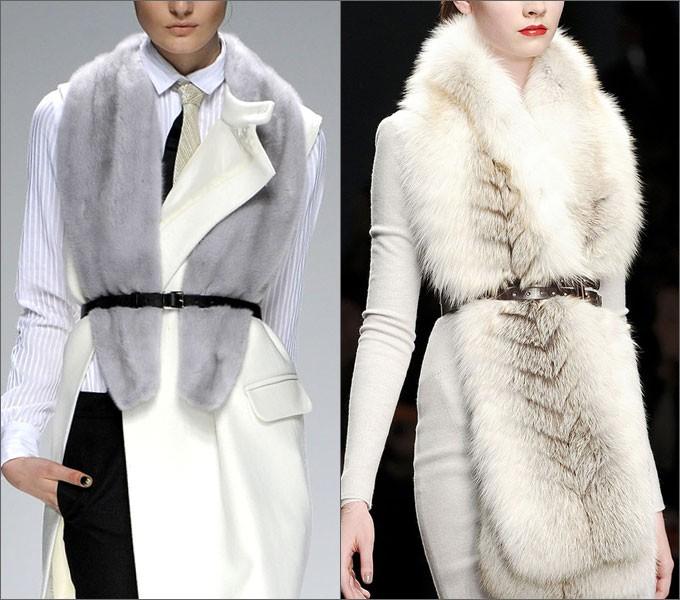 модные женские шубы 2019-2020: воротники из меха