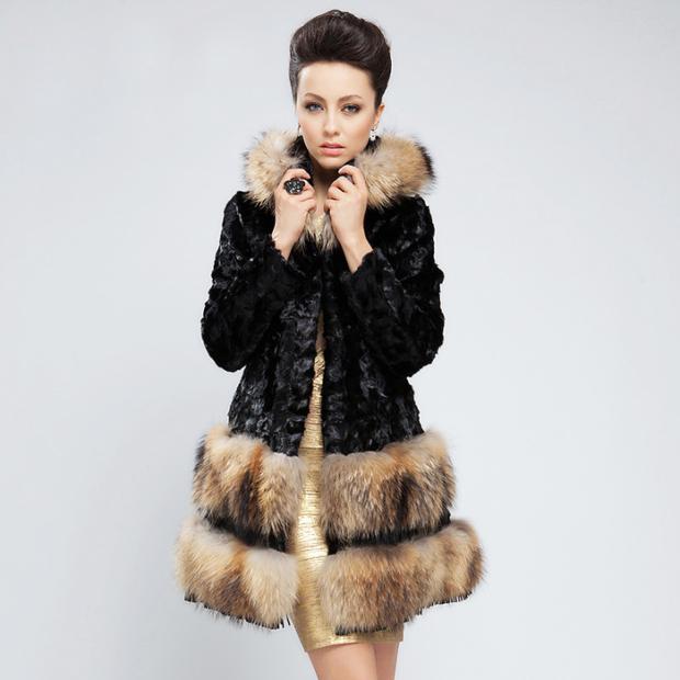 модные женские шубы 2019-2020: меховое пальто с разным мехом