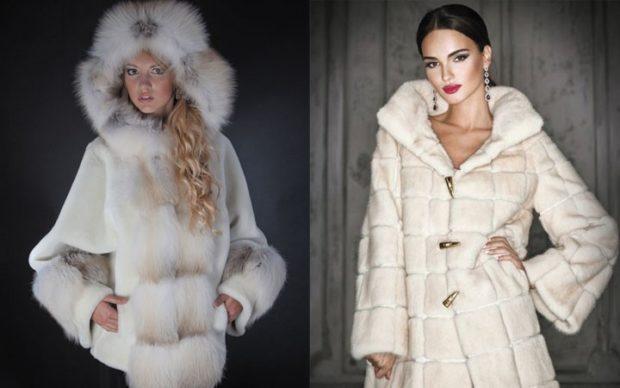 Модные женские шубы 2019-2020: шуба белая