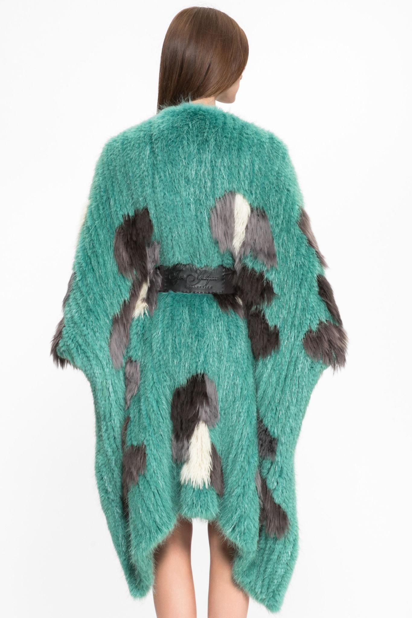 модные женские шубы 2019-2020: шуба зеленая альпаки