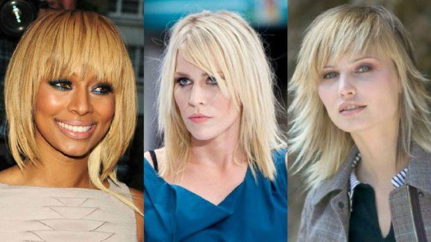 Модные женские прически 2018 года: челка по брови косая