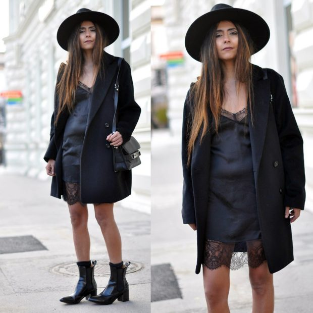 Модные женские прически 2018 года: шляпа с полями большими