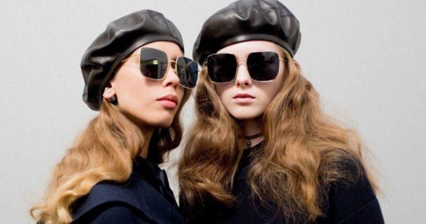 модные головные уборы 2019-2020: береты кожаные черные