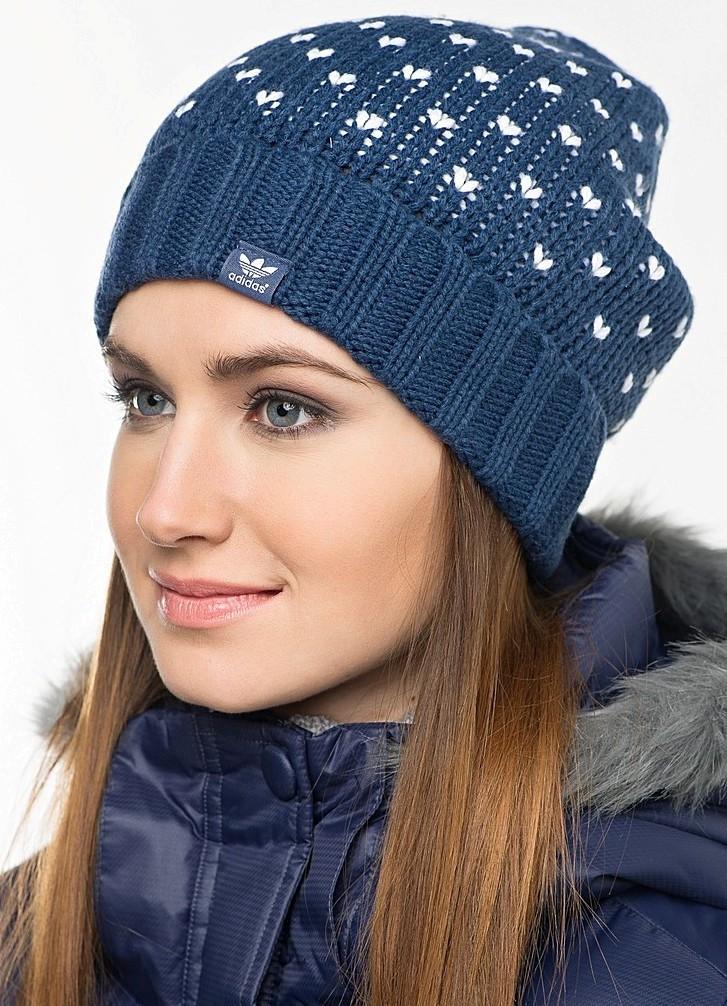 модные головные уборы 2018: шапка спортивная adidas синяя