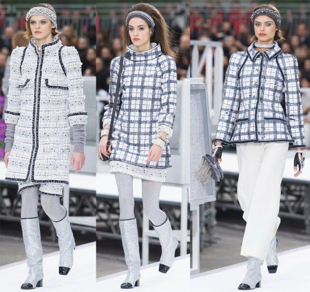 модные головные уборы 2019-2020: повязки зимние серые теплые