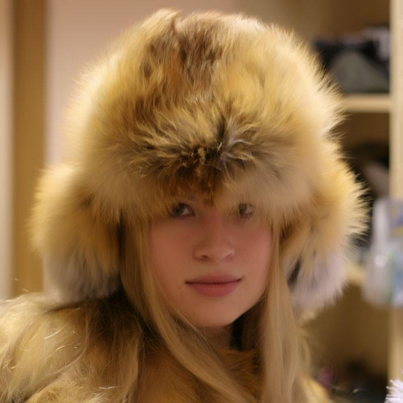 модные меховые шапки: малахай лиса