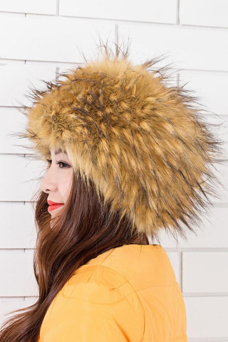 модные меховые шапки: шапка лисица объмная