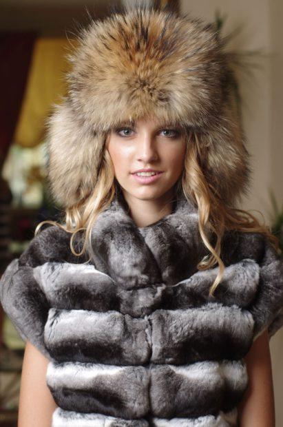 модные меховые шапки: малахай рыжий