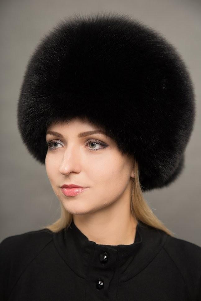 модные меховые шапки: шапка кубанка черная мех длинный