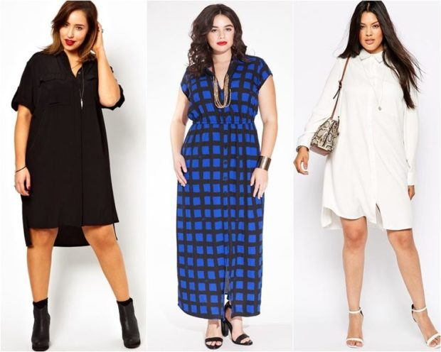 модные платья 2018 для полных: платье с шлейфом платье рубашка синее белое
