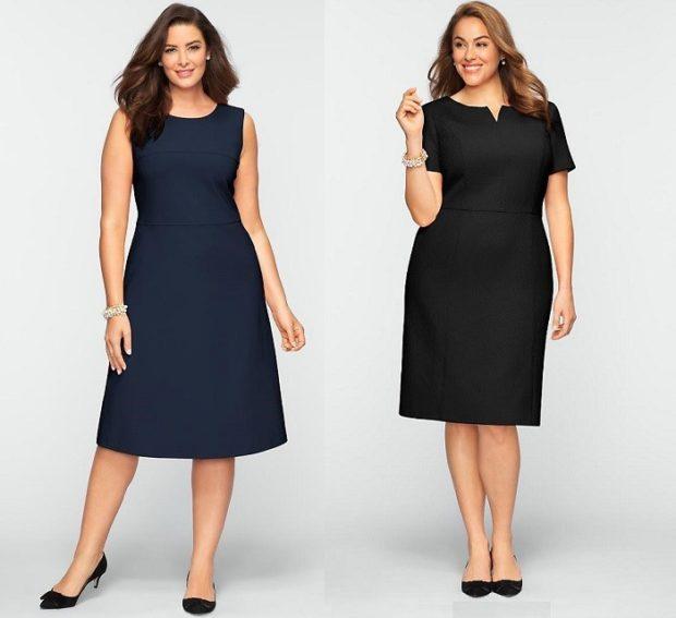 модные платья 2018 для полных: платья а силуэт