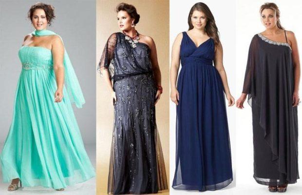 модные платья 2018 для полных: платья длинные вечерние бирюзовое серое синее черное открытые плечи