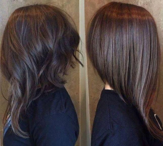 модные стрижки на длинные волосы 2019-2020: боб асимметричный