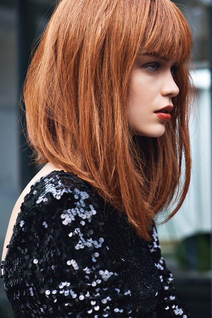 модные стрижки на длинные волосы 2019-2020: боб удлиненный