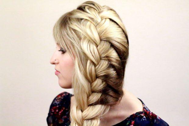 модные стрижки на длинные волосы 2019-2020: коса свободная