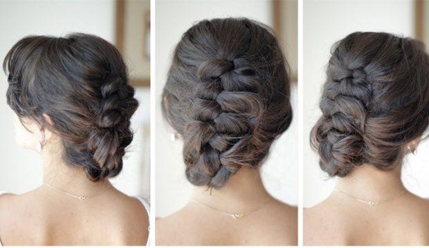 модные стрижки на длинные волосы 2019-2020: коса голландская