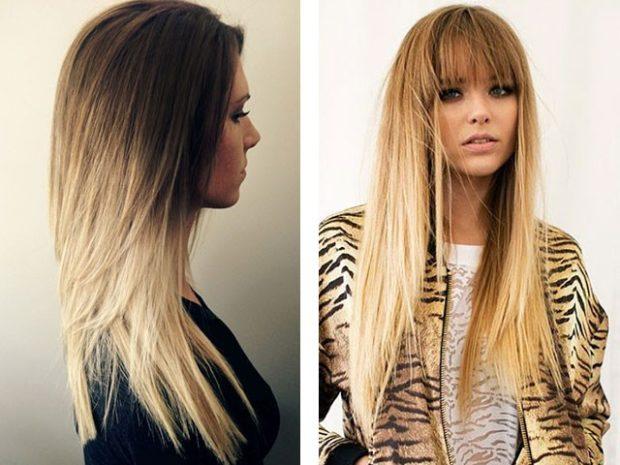 модные стрижки на длинные волосы 2019-2020: каскад окрас омбре