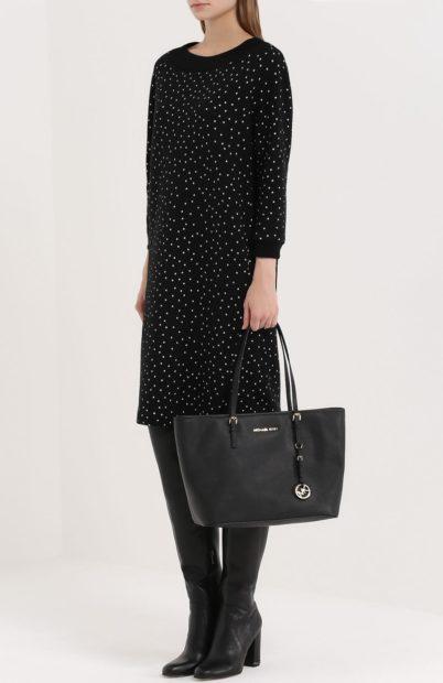 модные женские сумки 2019-2020: сумка таут черная