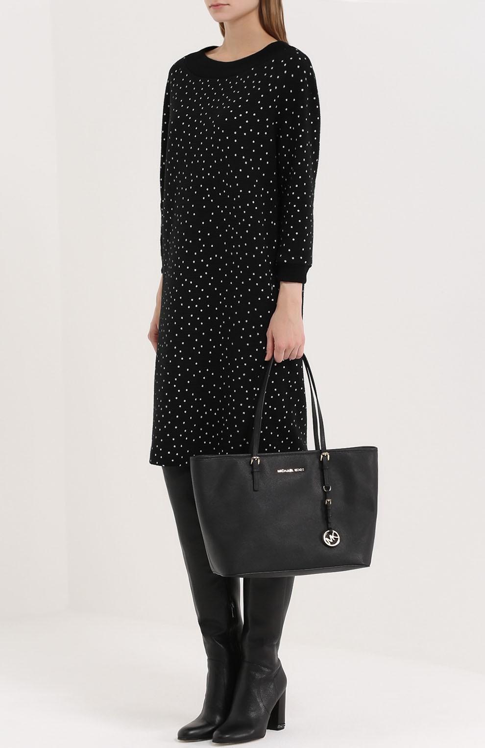 модные женские сумки 2018: сумка таут черная