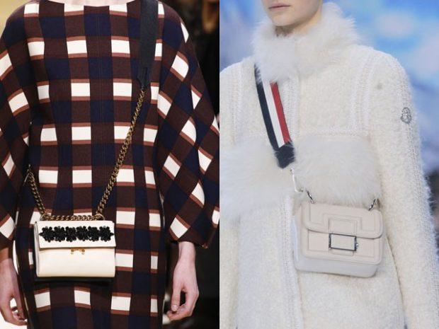 модные женские сумки 2018: маленькие сумочки прямоугольные через плечо