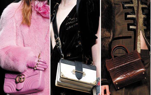 модные женские сумки 2018: сумки маленькие розовая беля коричневая