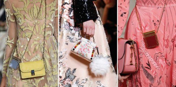 модные женские сумки 2018: маленькие сумочки желтая белая розовая