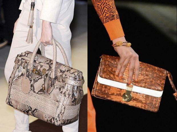 модные женские сумки 2018: под крокодила серая коричневая
