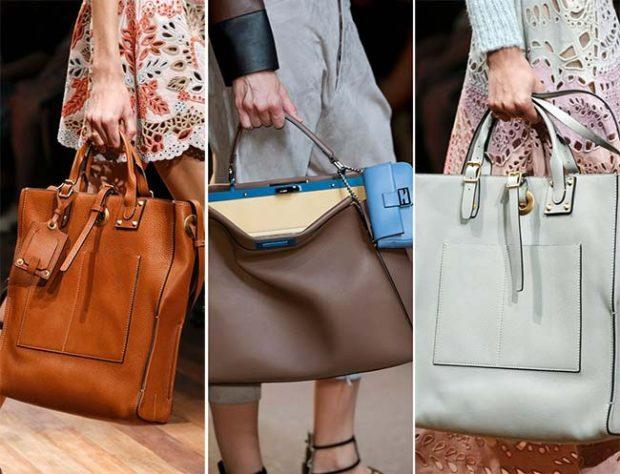 модные женские сумки 2018: огромные сумки коричневая серая голубая