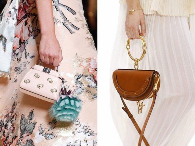 модные женские сумки 2018: сумки маленькие ручные