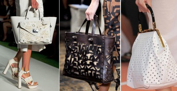 модные женские сумки 2018: сумки перфорированные