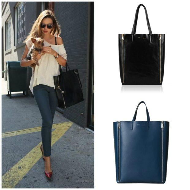 модные женские сумки 2018: сумка таут синяя черная