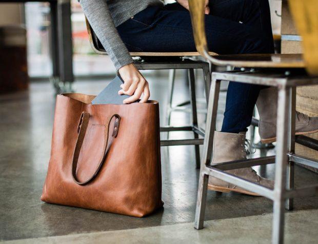 модные женские сумки 2018: сумка таут коричневая