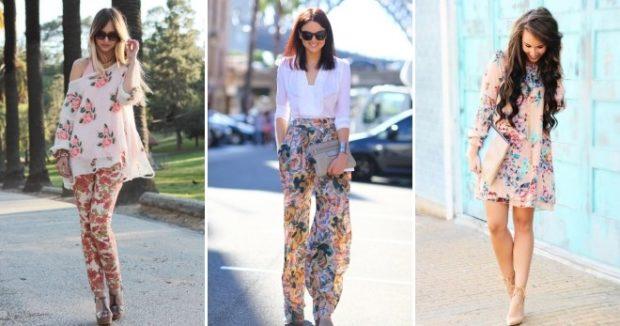 Модные тенденции 2019-2020 года: цветочный принт в одежде костюмы платья