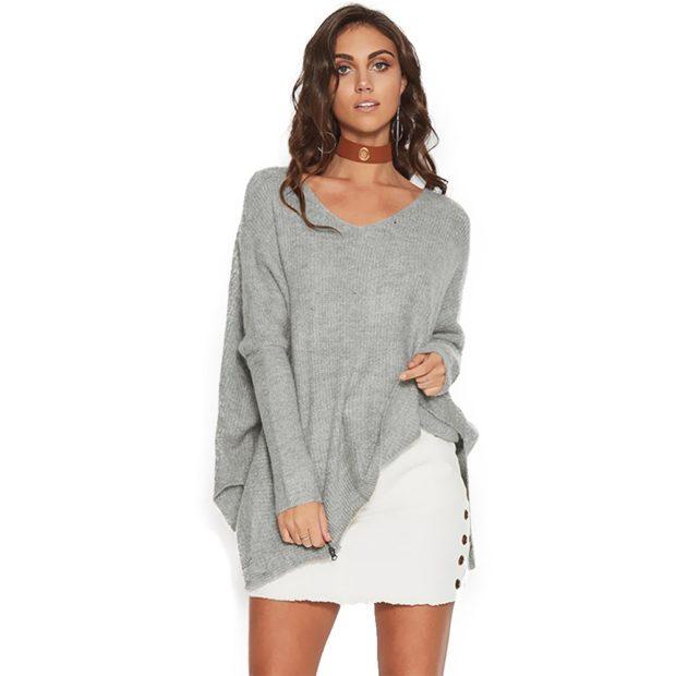 Модные тенденции 2019-2020: асимметрический свитер