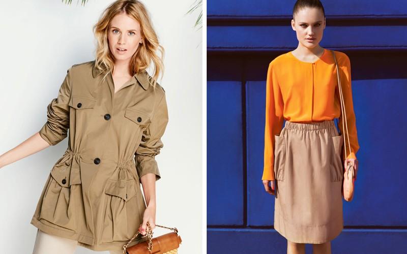 Модные тенденции 2019-2020 года: карманы накладные куртки юбка