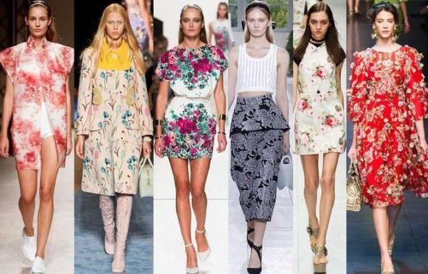 Модные тенденции 2019-2020 года: весенние платья яркие в цветы