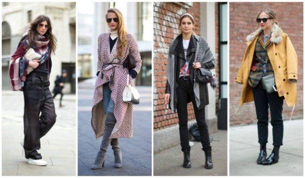 Модные тенденции 2019-2020 года: многослойная одежда штаны кофты кардиганы шарфы