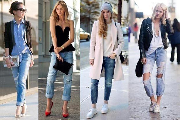 Модные тенденции 2019-2020 года: джинсы короткие под рубашки пальто майки