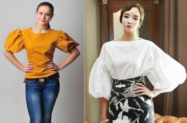 Модные тенденции 2019-2020 года: блузки рукава фонарики
