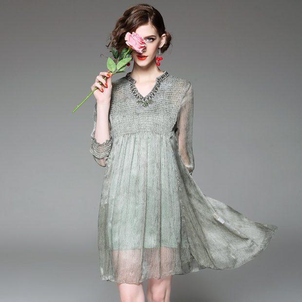 Модные тенденции 2019-2020 года: романтическое платье шифон