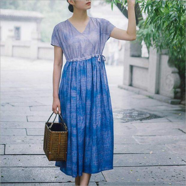 Модные тенденции 2019-2020 года: романтическое платье голубое