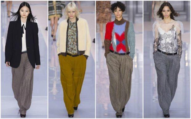 Модные тенденции 2019-2020 года: брюки широкие серые коричневые