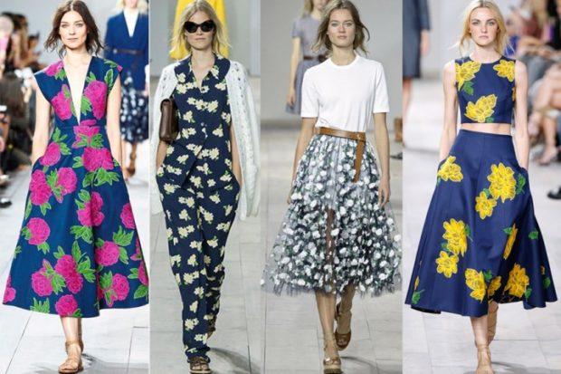 Модные тенденции 2019-2020 года: платья юбки в цветы