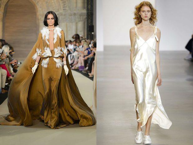 Модные вечерние платья 2019-2020 года: платье пышное платье в бельевом стиле белое
